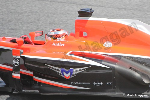 Jules Bianchi in Free Practice 2 at the 2013 Spanish Grand Prix