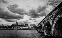Stormy Maastricht (NicVW) Tags: old city bridge blue sky urban panorama cloud house holland building history classic tourism church water netherlands dutch saint stone architecture river maastricht europe cityscape arch waterfront view roman stones postcard landmark medieval historic historical maas scenics limburg meuse destinations servaas traveldestinations servatius servaes saintservatius sintservaasbrug stservatiusbridge saintservatiusbridge