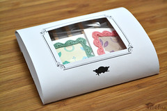 Mini greeting card set (mohu mohu) Tags: set miniature pastel crochet card frame kawaii packaging stationery greeting notecard mohu mohustore