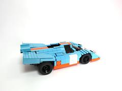 Gulf-Porsche 917 (1970 spec) (bobalexander!) Tags: gulf lego steve mans le porsche 1970 917 sportscar mcqueen