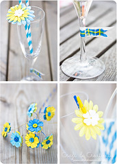 Pretty party decorations (Craft & Creativity) Tags: blue decorations party inspiration yellow fun diy pretty sweden crafts craft tutorial washi washitape