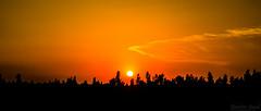 Sunset on Motorway (M2) (Ibrahim.Sayed) Tags: road bridge trees pakistan sunset mountains tarmac clouds rural landscape countryside nikon highway scenery village motorway horizon freeway 1855 nikkor m2 lahore sunsetting islamabad 55200 d5100