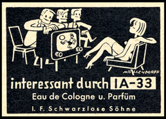 IA-33 Eau de Cologne (Harald Haefker) Tags: promotion vintage magazine germany ads print advertising de deutschland tv pub eau publicidad reclame soccer ad cologne retro anuncio advertisement nostalgia 1950s advert 1957 werbung publicit magazin fernseher reklame deutsch affiche publicitario deutsche pubblicit fusball rclame parfm schwarzlose ia33 mllendorff pubblicizzazione