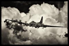 Boeing B-17G Flying Fortress - 17 (mod) (NickJ 1972) Tags: charity aviation airshow b17 boeing flyingfortress dfa 2012 sallyb memphisbelle littlegransden gbedf 124485