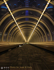 Skywalk Tunnel (Juan N Only) Tags: building architecture vanishingpoint michigan detroit deception may tunnel symmetry photowalk rencen renaissancecenter gmheadquarters cameraclub leadinglines millendercenter 2013 criticismwelcome exposuredetroit juannonly expdet050213