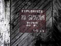 Explosives (jennakitchell) Tags: ruins military smoking angelisland explosives