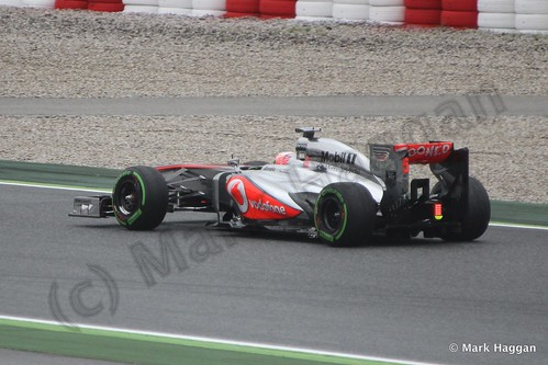 Jenson Button in Free Practice 1 at the 2013 Spanish Grand Prix