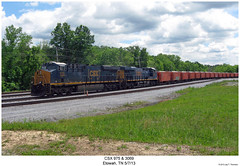 CSX 975 & 3069 (Robert W. Thomson) Tags: railroad train diesel tennessee railway trains locomotive trainengine ge csx etowah gevo es44ac es44 evolutionseries sixaxle es44ah
