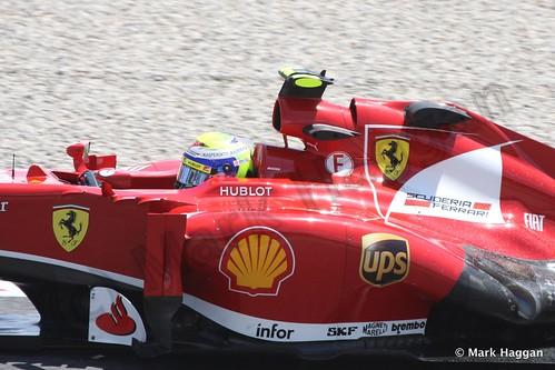 Felipe Massa in Free Practice 2 at the 2013 Spanish Grand Prix