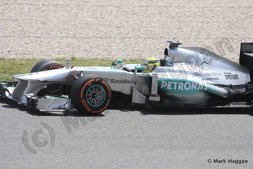 Lewis Hamilton in Free Practice 2 at the 2013 Spanish Grand Prix
