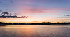Sunset Over South Shields (dankellys) Tags: sunset sea sky seascape motion colour beach water misty clouds landscape blurry sand nikon rocks waves kitlens filter 1855mm nikkor northeast southshields haida ndfil