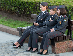 Charming girls of police (Osdu) Tags: people girl lady women uniform russia moscow police gloves policeman russiangirl russianbeauty