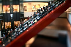 diagonal -  (turntable00000) Tags: red japan mall square tokyo sony escalator queen diagonal yokohama 365 kanagawa   nex     turntable00000