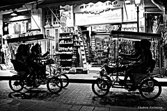 Rethymno street (Eleanna Kounoupa (Melissa)) Tags: street blackandwhite bicycle silhouettes greece crete rethymnon   explored blackwhitephotos   hccity