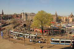 Stationsplein - Amsterdam (Netherlands) (Meteorry) Tags: morning holland public netherlands amsterdam europe transport may nederland siemens tram centraalstation streetcar prinshendrikkade viewpoint tramway paysbas vue oudekerk noordholland matin noordzuidlijn gvb damrak stationsplein combino stadsarchief beursvanberlage nieuwezijdsvoorburgwal victoriahotel meteorry publique 2013 nzvbw dnercompany broodzaak