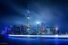 Neotropolis (draken413o) Tags: china skyline architecture night digital wow amazing long exposure cityscape shanghai scenic bund blending