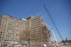 Great Lakes hospital building demo (14 May 13) 1