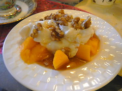 All dressed up - Greek Yogurt ;) (Jeannette Greaves) Tags: walnuts mango treat norma yogurt maplesyrup 2013