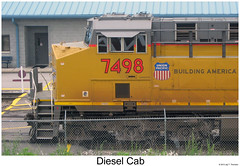 Diesel Cab LXXXIV (Robert W. Thomson) Tags: railroad up train diesel tennessee railway trains unionpacific locomotive trainengine ge etowah gevo es44ac c45accte es44 evolutionseries sixaxle