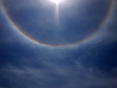 Sun Halo_01 (AbbyB.) Tags: blue sky sun rainbow halo