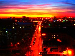 Manchester Sunset - Tweaked (notFlunky) Tags: letter t night manchester sunset spinningfield water street dusk leftbank spinningfields picnik aviary tweaked cloudy alphabet number