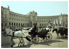 Hofburg Imperial Palace, Vienna (Nithi clicks) Tags: vienna wien city travel autumn summer sky panorama building castle history tourism statue museum architecture clouds court square outdoors austria town spring europe day arch view library space platz capital sightseeing culture illumination landmark center palace front panoramic historic national imperial historical imperialpalace curved complex burg austrian hofburg heldenplatz helden habsburg