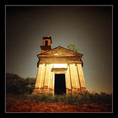 Very old church (outside) (Roberto Messina photography) Tags: film xpro pinhole filter expired sephia zero2000 velvia50