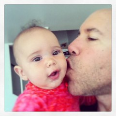 #work over for now. #kisses #daddy #baby (malcojojo) Tags: square squareformat iphoneography instagramapp uploaded:by=instagram foursquare:venue=4d200a61bdd7a0937970eace