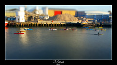 Paddling in Miniature (Ollie Jones the Photographer) Tags: water jones miniature ollie poole kayakers