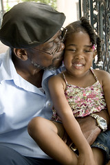 Loving Grandfather (SeniorNavigator) Tags: family man black love girl hat loving beard glasses kiss child sweet small grandfather granddaughter africanamerican braids mustache blackhair tender barrett sundress preschooler braidedhair sxswlypse