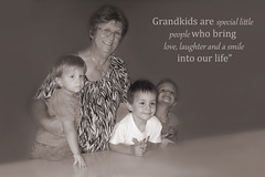 My Grandsons (judith511) Tags: sepia edited peekaboo grandchildren nan ourdailychallenge