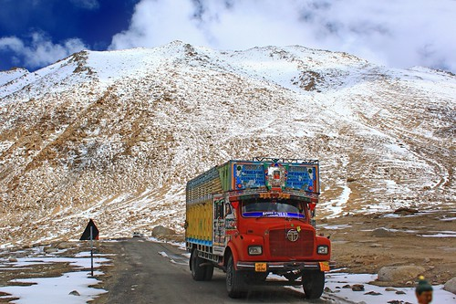 Colorful Trucks in Ladakh