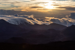 Sunrise over Haleakala (thefuton) Tags: morning travel sun clouds sunrise hawaii early bright maui haleakala haleakalanationalpark puuulaula