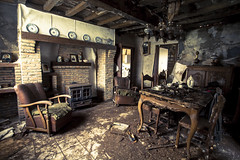 It's Getting Dark, Too Dark To See (J4M35_UK) Tags: house holland abandoned fireplace rust europe decay farm farming cottage eu creepy forgotten hearth chateau maison derelict georges decayed bungalow crumbling huize beklgium