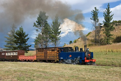 NG4 no. 6 approaching Vailima Loop. Sandstone Heritage Trust Railway, Free State, South Africa, 4th May 2009.