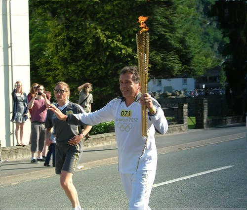 Malcolm Jones of Tremadog Olympic torch Bangor  2012