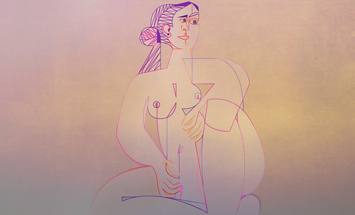 "Mujer Sentada, geometrización de Pablo Picasso (1953), abstracción de Roberto Real de León (2013). • <a style=""font-size:0.8em;"" href=""http://www.flickr.com/photos/30735181@N00/8805323297/"" target=""_blank"">View on Flickr</a>"