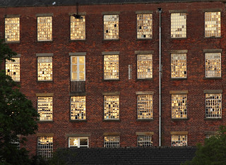 Last daylight on Silk Mill, Chapel Lane, Galgate (Ellel), near Lancaster, UK