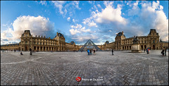 Le Grand Louvre - Place du Carrousel et Pyramide by Dajethy (dajethy) Tags: paris louvre parigi canonmark3 louvrepyramidparis dajethy dothstyle marcodajethy markdajethy
