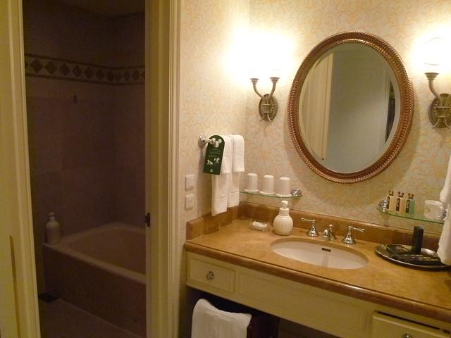 部屋の清潔感あふれるバスルーム|東京ディズニーシー・ホテルミラコスタ