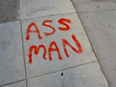 Ass Man, San Francisco, CA (Robby Virus) Tags: sanfrancisco california man ass concrete graffiti paint pavement tag cement sidewalk