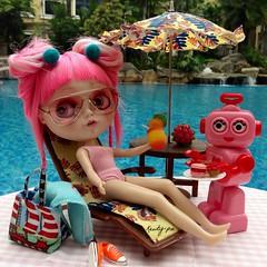 Sunday 14 July - Pool side pampering