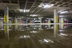 parking puddle (Homemade) Tags: reflection cars water puddle norwalk connecticut garage ct fairfieldcounty merrit7 merritt7 sonydscrx100
