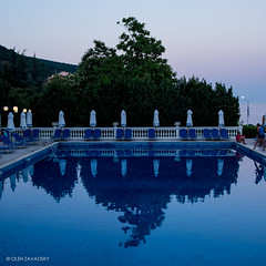 Sleeping Pool. Photo 2 (Oleh Zavadsky) Tags: leica reflection water night dark evening darkness x bulgaria burgas x2 xseries       leicax2gallery