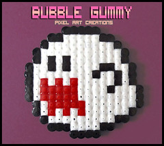 Boo (Bubble Gummy pixel art) Tags: nintendo super mario boo videogames videogame mariobros bros videojuego videojuegos hamabeads perlerbeads bubblegummy bubblegummypixelart