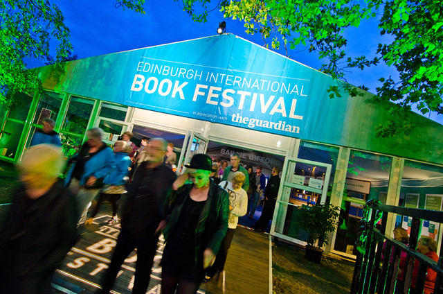 Book Festival entrance at night