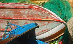 disused colored boat (edoardodinicola) Tags: red sea color canon boat abruzzo