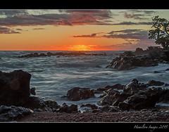 Sunrise At Koki Beach (Hamilton Images) Tags: sky rock clouds sunrise canon landscape hawaii lava surf waves january maui hana kokibeach 2015 redsandbeach 24105mm leefilter img2791 7dmarkii 09softedgegraduatedneutraldensity