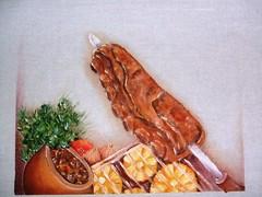 churasco (LID ARTS) Tags: de em prato panos pintura tecido
