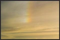 Golden Sunset & Sundog (Zelda Wynn) Tags: weather plane cloudy auckland goldensunset sundog cloudscape troposphere zeldawynnphotography
